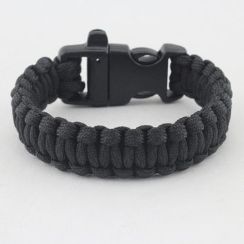 High Quality Military Army Camping Hiking Climbing Paracord Bracelet Survival Gear Kit Braided Rope Wrist Band kamp malzemeleri
