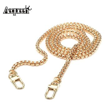Aequeen New Shoulder Bag Straps Metal DIY Bag Chain High Quality Bag Metal Strap Accessories Clutch Bag Straps Snake 120CM