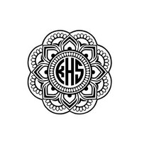 Mandala Monogram Decal, Boho Monogram Decal, Gypsy Decal, Monogram Decal for Yeti, Gift for Her, Hippie Decal, Yeti Cup Decal for Her