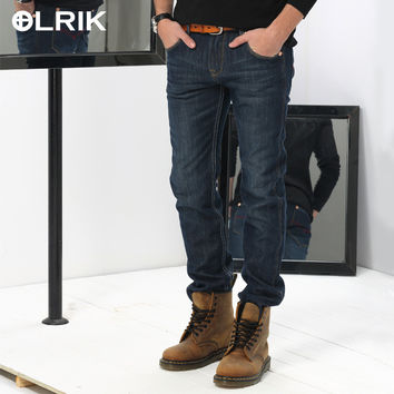 Winter Rinsed Denim Men Men's Fashion Jeans [6528985987]