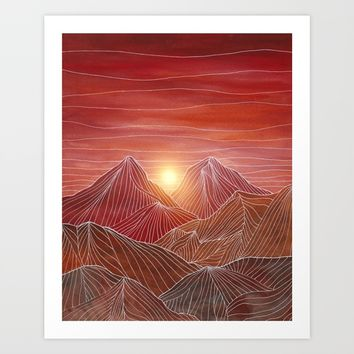 Lines in the mountains VI Art Print by Viviana Gonzalez