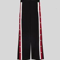 PYJAMA - STYLE TROUSERS WITH SIDE STRIPES-NEW IN-WOMAN-NEW COLLECTION | ZARA Canada