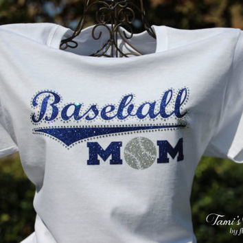 Baseball Mom, Baseball Tee, Baseball Shirt, Baseball Mom Shirt, Baseball Mom Bling, Baseball Mom Tee, Baseball Team, Custom Baseball
