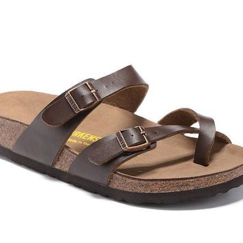 Newest Hot Sale Mayari Birkenstock 805 Summer Fashion Leather Beach Lovers Slippers Ca