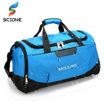 Professional Waterproof Large Sports Gym Bag With Shoes Pocket Men/Women Outdoor Fitness Training Duffle Bag Travel Yoga Handbag