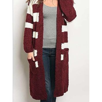 Far Out Cardigan | Garnet