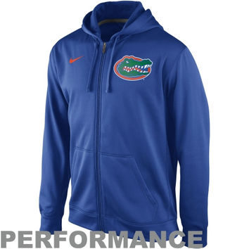 Nike Florida Gators College KO Full Zip Logo Performance Hoodie - Royal Blue