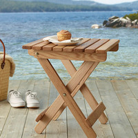 Adirondack Wooden Folding Side Table: Tables at L.L.Bean
