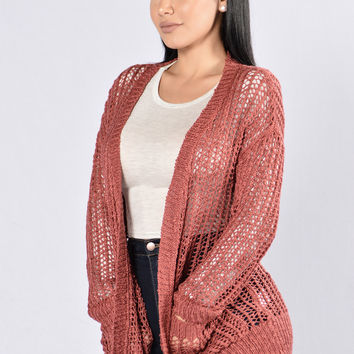 Good To Me Cardigan - Marsala