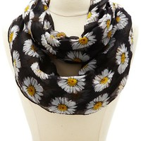 DAISY PRINTED INFINITY SCARF