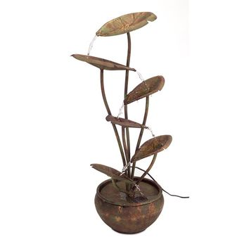 Melrose Intl. Metal Lotus Fountain | Wayfair