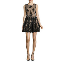 Trixxi Sleeveless Embroidered Party Dress-Juniors - JCPenney