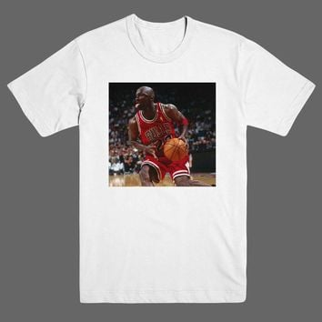 Michael Jordan Tongue Out 1995 Chicago Bulls NBA T Shirt