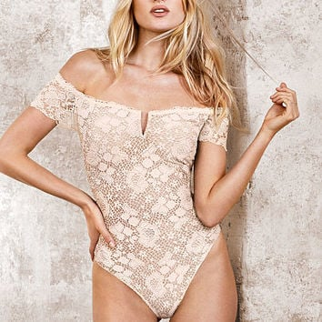 Off-the-shoulder Lace Bodysuit - Very Sexy - Victoria's Secret
