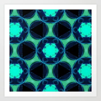 blue and angle Art Print by celiariani