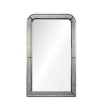 Laurent Distressed Silver Mirror by Barclay Butera