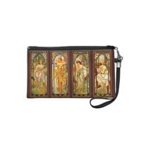 The Times of the Day ~ Vintage Alphonse Mucha Art Wristlet Clutches from Zazzle.com