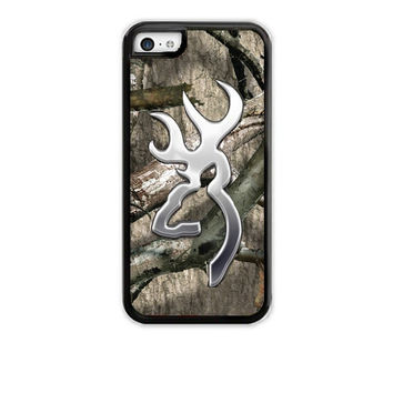 Browning Cutter Camo iPhone 4 5 5C Case Cover Rubber Silicone Not actual Chrome