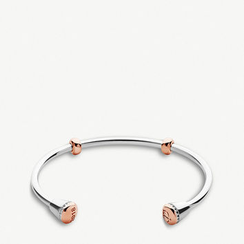LINKS OF LONDON Ascot 18ct rose-gold vermeil and sterling silver cuff bracelet