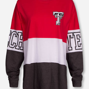 "Pressbox Texas Tech ""Clarity"" Red, White and Charcoal Sweeper"