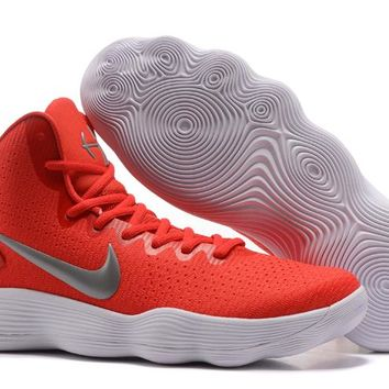 Nike Mens Hyperdunk 2017 Elite Red/Silver/White Basketball Shoes