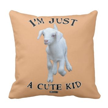Cute Kid Design by Kat Worth Throw Pillow