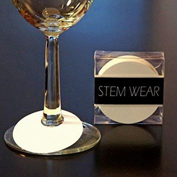 50 Wine Glass Identification Tags  Disposable Paper Tags  STEM WEAR by Red Fox Tail