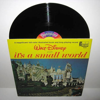 Vinyl Record Album Disney's It's A Small World Book and LP 1964 Children's Classics