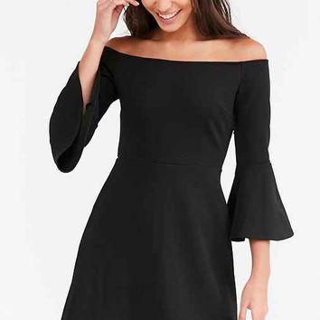 Cooperative Off-The-Shoulder Bell-Sleeve Dress