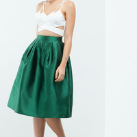 Gemma Pleated Midi Skirt