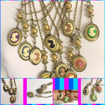 Vintage  Cameo Locket /Free Shipping