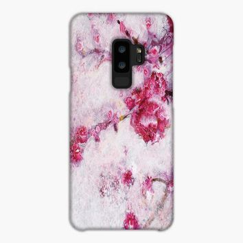 Japanese Cherry Blossom Watercolor Samsung Galaxy S9 Plus Case