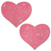 Glitter Bubblegum Pink Heart Pasties