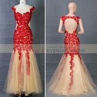 BQ63053 Fashion Long Red Appliqued Tulle Ball Gown Red prom dress, View tulle ball gown red prom dress, CHOIYES | Red Appliqued ball gown Dress Product Details from Chaozhou Choiyes Evening Dress Co., Ltd. on Alibaba.com