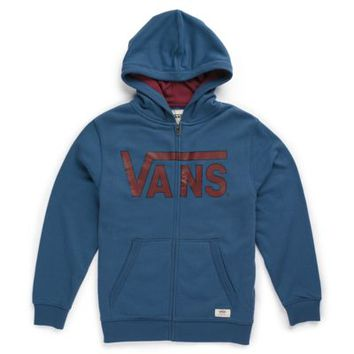 Boys Vans Classic Zip Hoodie (Ensign Blue/Wine)