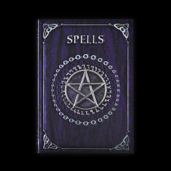 Gothic Blank Journal Purple Spell Book Journal Hardbound Notebook 5 x 7