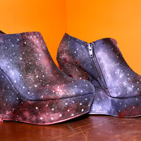 Galaxy Shoes Wedges Size 9