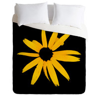 Romi Vega Yellow Flower Duvet Cover