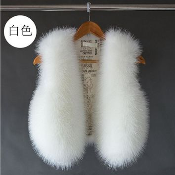Popular design fashion women rabbit/mink fur vest