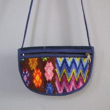 s a l e vintage blue NEEDLEPOINT purse by secretlake on Etsy