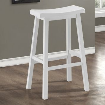 Monarch Pennyhill Saddle Seat Bar Height Barstools - Set of 2 | www.hayneedle.com