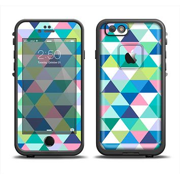 The Vibrant Fun Colored Triangular Pattern Apple iPhone 6 LifeProof Fre Case Skin Set