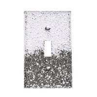 Silver & White Glitter Switch Plate Cover
