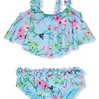 Toddler Girl's Hula Star 'Fairy Garden' Two-Piece Swimsuit,