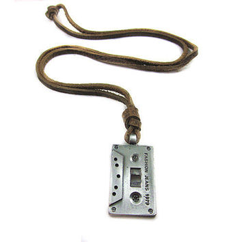 soft leather necklace tape pendant men leather long necklace, women leather necklace  PL0308