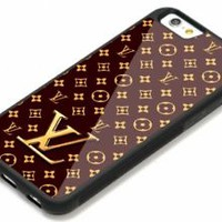 Best Louis Vuitton123 Brown iPhone 7 and 7+ Hard Plastic Cover Case