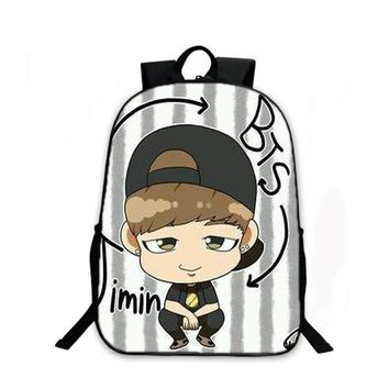 K-pop BTS Backpack for Teenagers Girls Boys Character School bag Bulletproof Boy Scouts bookbag BTS Daily Laptop Backpack bag