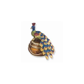 Peacock Atop Trinket Box