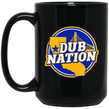 Golden State Warriors Dub Nation BM15OZ 15 oz. Black Mug
