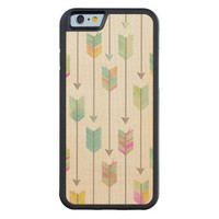 Watercolor Arrows Pattern Carved® Maple iPhone 6 Bumper